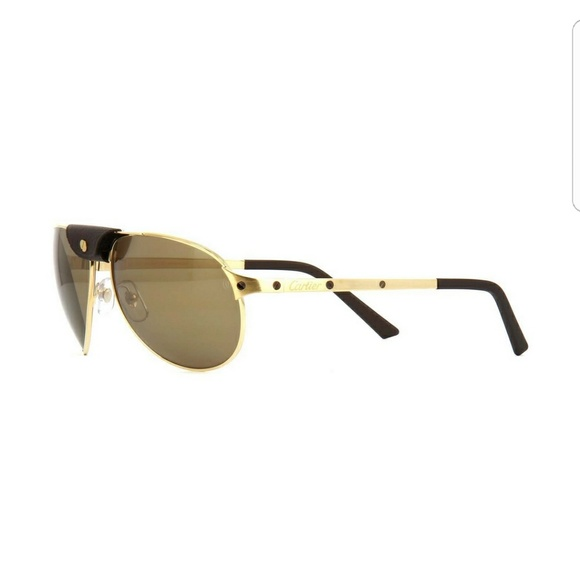 7d4b3aaeaeb4 Cartier Other - Cartier Santos Gold Sunglasses Aviator Pilot